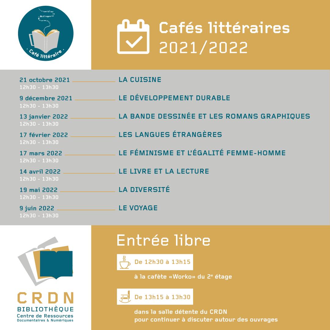Cafés littéraires 2021-2022